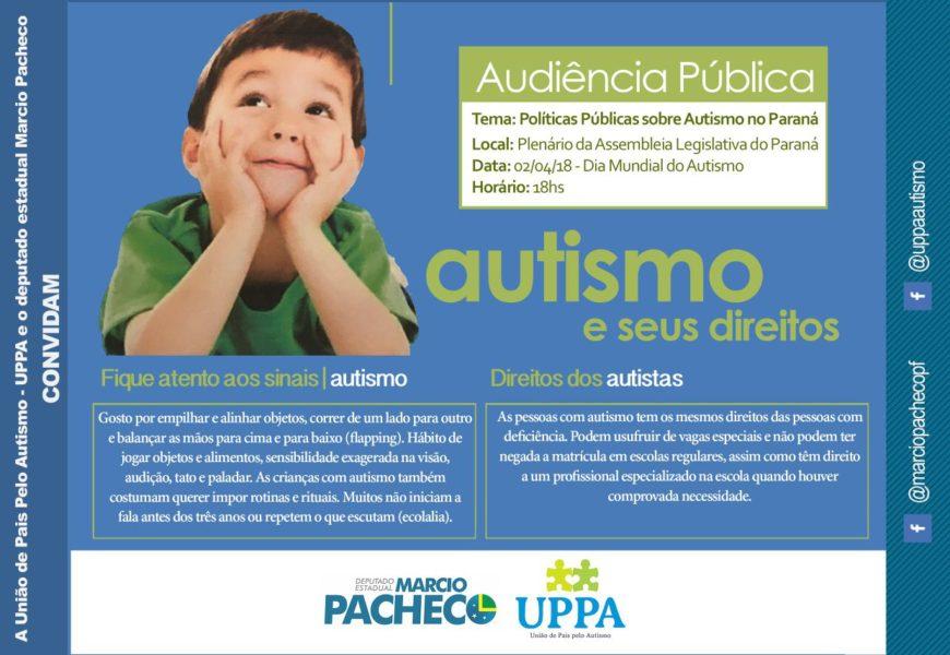 Em Curitiba | Audiência Pública debate politicas públicas sobre o autismo no Paraná