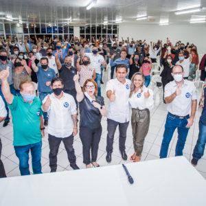 Pacheco e Samantha são aclamados pré-candidatos a prefeito e vice em Cascavel
